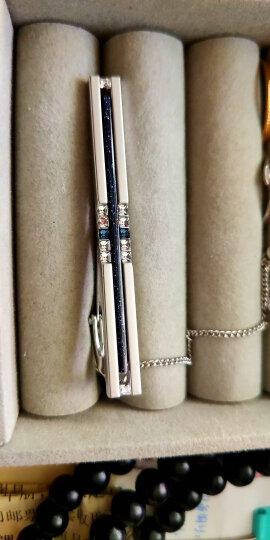 UGO韩国正品原装星空石男士商务正装领带夹百搭银色轻奢蓝色水晶款领夹礼盒包装定制刻字礼物 晒单图