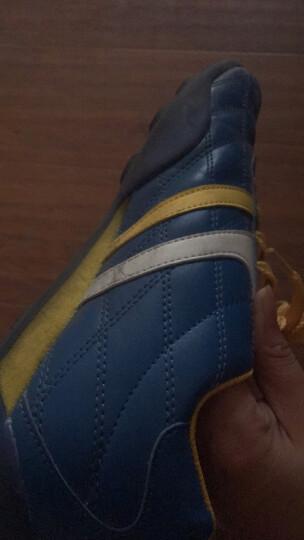 双星儿童碎钉足球训练鞋足球鞋 9011 黑绿 37 晒单图