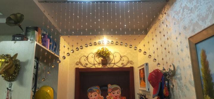 洛曼斯(LOMANSI) 水晶珠帘门帘隔断过道玄关客厅帘子卧室珠子挂帘风水帘装饰免打孔屏风 拱型 30条_适合宽0.9-1.5米 晒单图