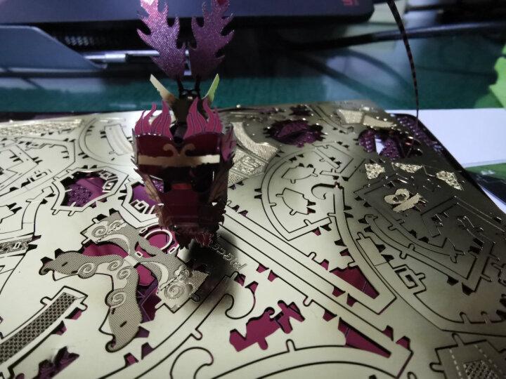 拼酷3D立体拼图 合金拼装DIY手工创意礼品家居人物动漫摆件 拼插模型仿真金属拼图玩具 凌弓骑士-金色(送拼装工具) 晒单图