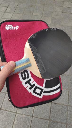 红双喜DHS E-E206直拍双面反胶乒乓拍健身型(附带拍套,单块装) 晒单图