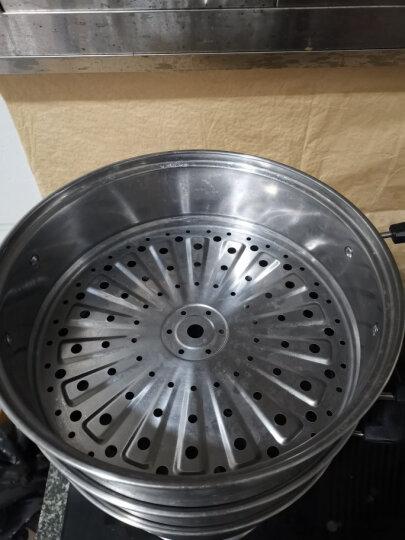 炊大皇 蒸锅 不锈钢28cm三层蒸笼蒸滋味复底电磁炉通用WG16331 晒单图