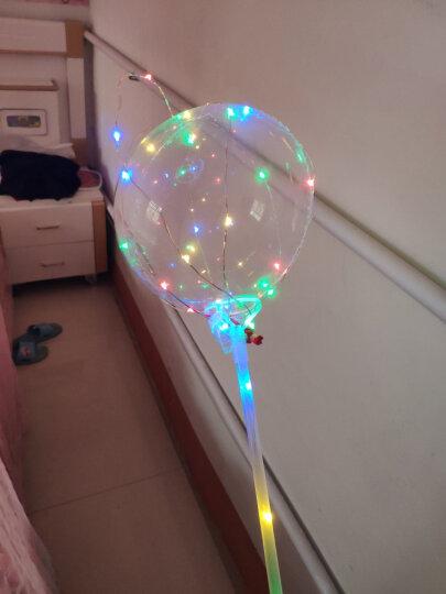 三八妇女节礼物网红发光波波球 生日派对装饰婚庆布置LED彩带灯发光气球 送女友爱人浪漫生日礼物女生表 圆形彩光版 晒单图