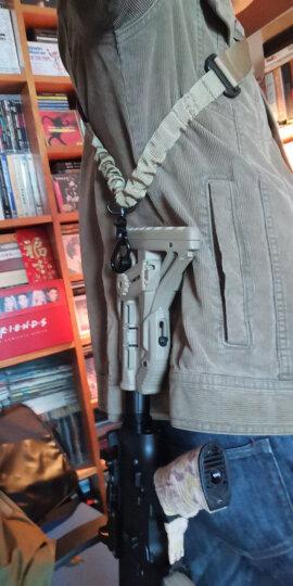 CS战术带背ms2战术背带 带挂绳背带扣卡扣多功能单点背带绳改装配件 1.25圆弧QD头 晒单图