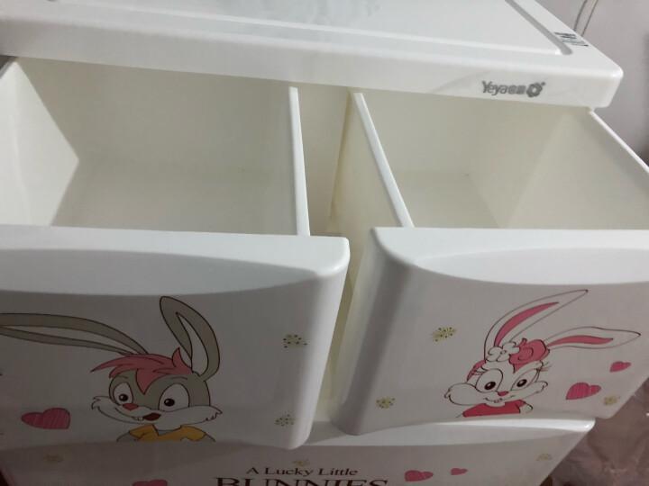 也雅宝宝衣柜抽屉式塑料收纳柜儿童房储物柜衣服盒收纳箱五斗柜 晒单图