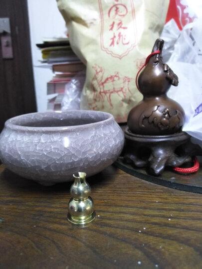 德祥缘 陶瓷香炉冰裂熏香炉创意香薰炉檀香沉香盘香薰炉工艺礼品 冰裂--钻石灰 晒单图