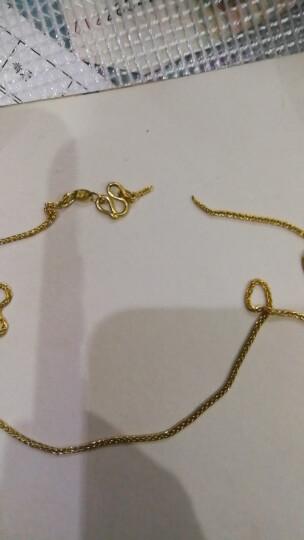 六福珠宝 足金肖邦链黄金女款项链素链 计价 B01TBGN0008 43cm-4.39克(含工费140元) 晒单图