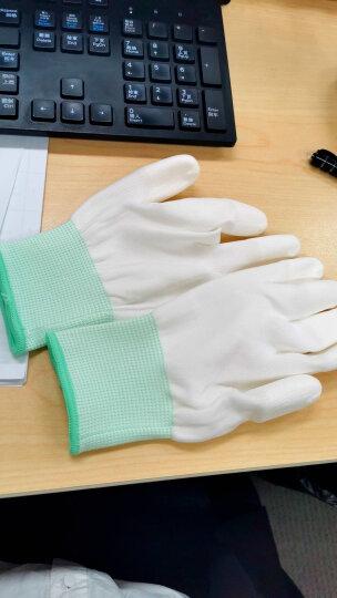 爱不释手 PU劳保手套工作绝缘线手套耐磨防滑防护防静电手套夏季薄款 碳纤维PU涂指手套 (10双装) M/中号 晒单图