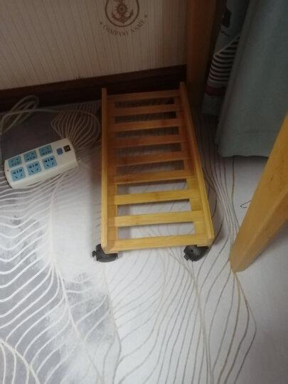 与竹同 楠木台式电脑主机托架网吧机箱托可移动主机架子万向轮置物架多功能简约主机架 小号(无挡板)长45 晒单图