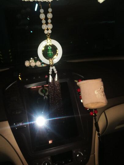 [当日发货]爱丽斯汽车挂件饰品摆件车内装饰白玉石挂饰纯银翡翠葫芦平安果貔貅汽车后视镜用品 平安佛(现货)新古典情怀系 晒单图