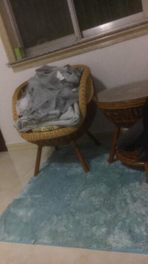 乐巢优品 藤椅 阳台藤椅三件套五件套 户外休闲桌椅套装家具 五件套 四椅加大桌子  送坐垫抱枕 晒单图