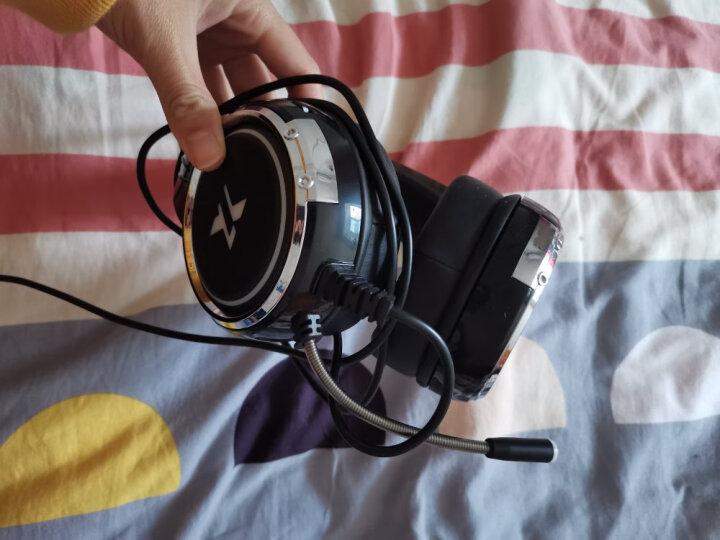 电脑耳机头戴式耳麦有线游戏耳机网吧笔记本台式吃鸡听声辩位电竞带麦克风话筒绝地求生7.1声道魔音LOL X9-少女粉【3.5mm升级版】 晒单图