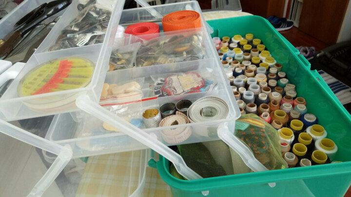 易耐特美术工具箱三层工具箱画画美甲国画工具箱手提式透明收纳箱工具盒多功能美术工具收纳盒透明塑料美术箱 庄重绿 15英寸,长38*宽24*高17cm 晒单图