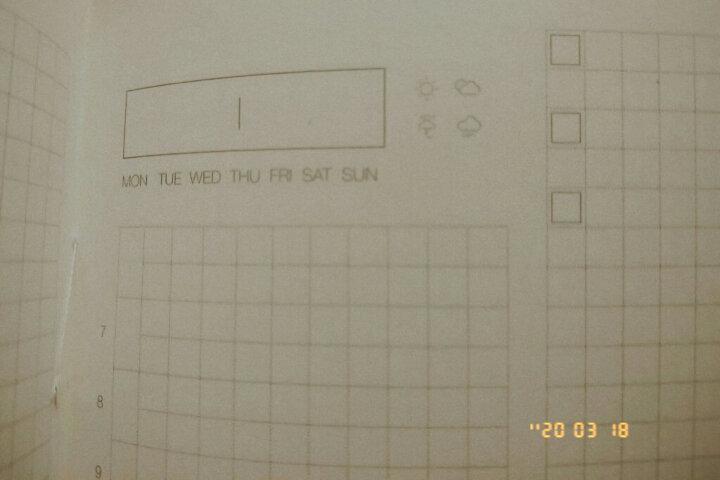 卡杰(CAGIE)简约手账本子365天自填式效率手册小清新超厚笔记本子A5硬面抄160张文具封面定制 晶石黑(双年) 晒单图