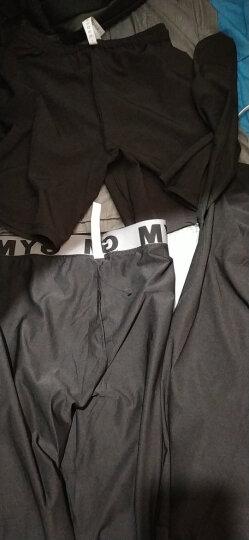 范斯蒂克 运动套装男春夏季健身跑步套装短袖紧身衣健身裤篮球服透气运动健身房训练服 黑色四件套 TC0625 XXL 晒单图