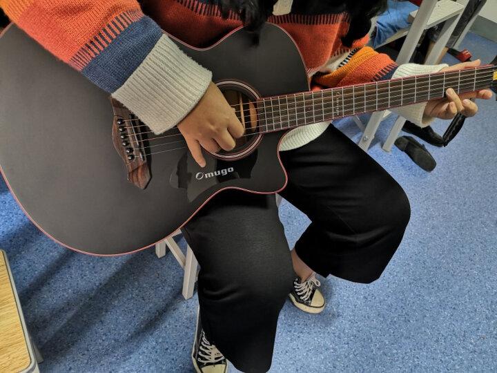 芒果OMUGO吉他云杉面板入门初学40寸41寸民谣木吉它guitar 穿心箭D8C  N41寸电箱 晒单图