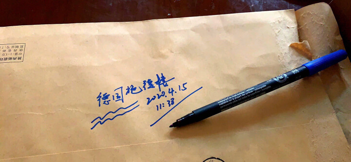 德国施德楼(STAEDTLER)记号笔速干油性笔光盘笔1.0mm 蓝色 单支装M317-3 晒单图