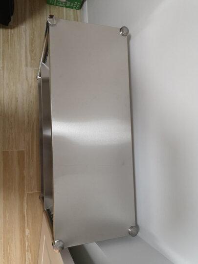 不锈钢厨房置物架 落地不锈钢置物架 厨房收纳架微波炉架储物架货架家用柜架子烤箱架锅架三层台面 豪华加粗加厚3层 长60宽35高80三层 晒单图