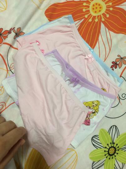 芭比(Barbie)儿童内裤女童少女棉质内裤 宝宝三角平角裤小孩内裤4条装 E款6条装 适合身高140-150cm 晒单图