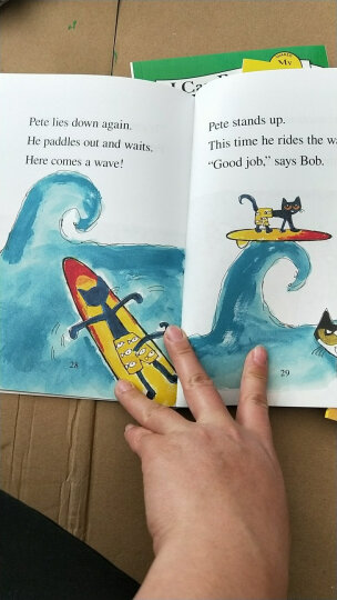 Pete the Cat: Pete at the Beach (My First I Can Read)皮特猫去海边 英文原版 晒单图