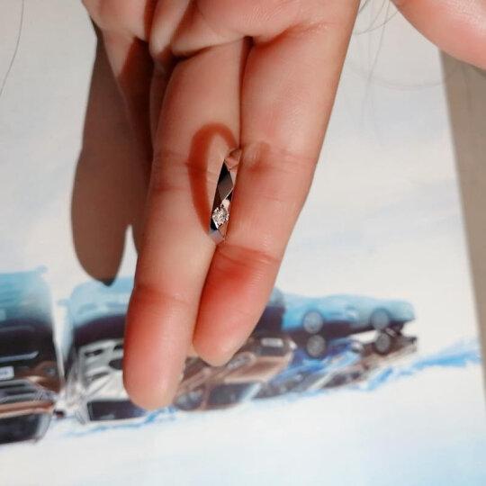 我爱钻石网 钻戒白18K金钻石对戒情侣铂金戒指男女款白金铂金对戒订婚结婚求婚戒指钻戒一对/旋律 铂金对戒(男) 晒单图