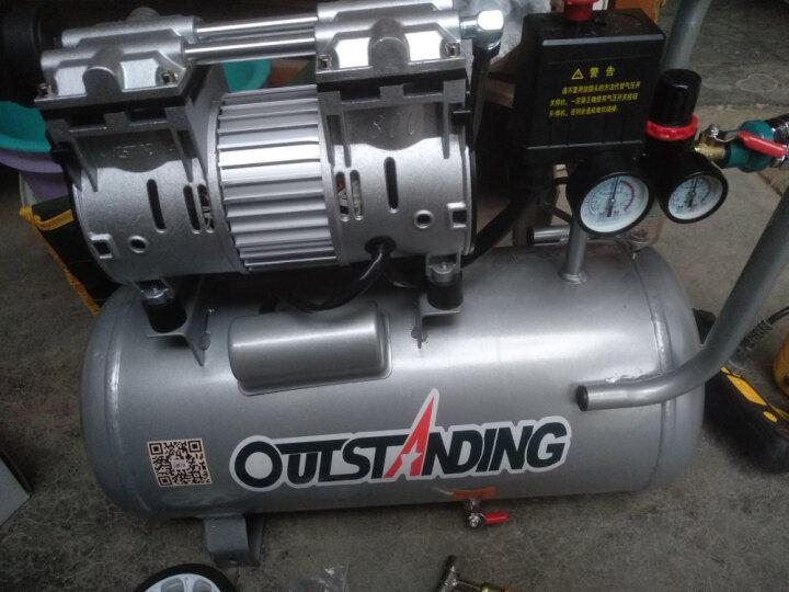 OUTSTANDING奥突斯无油静音空压机气泵800-30L木工小型充气泵地暖空压机 银灰色精品机+送五件套+F30+ST64 晒单图