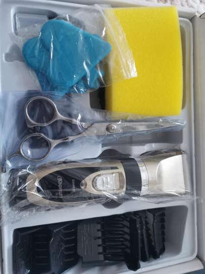 宝润 938电动理发器成人儿童充电婴儿电推剪静音剃头刀电推子理发工具剪发器专业美发理发剪刀 金色单电池双剪豪华套装 晒单图