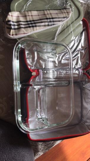 比得兔(Peter Rabbit)三分隔玻璃保鲜盒饭盒微波炉可用耐热玻璃保鲜盒便当盒密封饭盒带包 【女神款】三隔饭盒 送包 晒单图