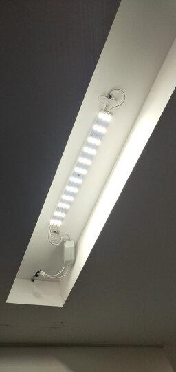 博勒宁LED灯板改造板吸顶灯改装灯板灯条长方形节能H灯管替换全套 36W-41cm长/6W*6条-白光 晒单图
