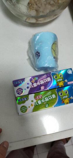 青蛙王子 宝宝儿童牙膏3-6-12岁50g*4支牙刷牙杯 换牙期牙膏 儿童牙膏水晶水果味防蛀 晒单图