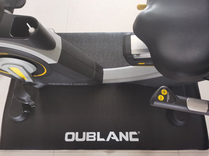 意大利欧宝龙卧式健身车商用动感单车家用磁控高端智能康复运动健身器材 专用减震垫 晒单图