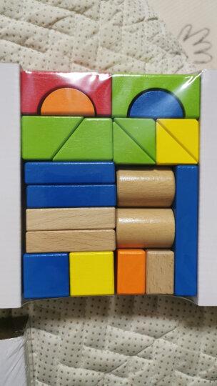 德国(Hape)儿童积木玩具男孩玩具女孩益智玩具1-3-6岁拼搭宝宝玩具进口榉木80粒数字字母盒装 1岁+ E8022 晒单图