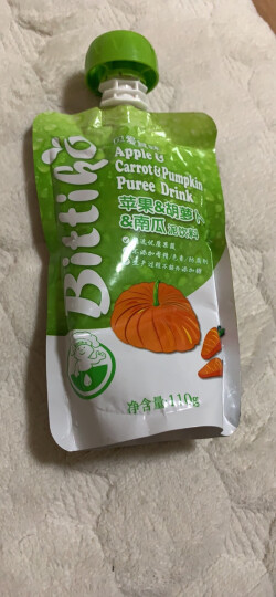 贝爱其味(bittiko)丽家宝贝宝宝果泥水果泥果汁泥饮料110g 苹果&梨果汁 晒单图