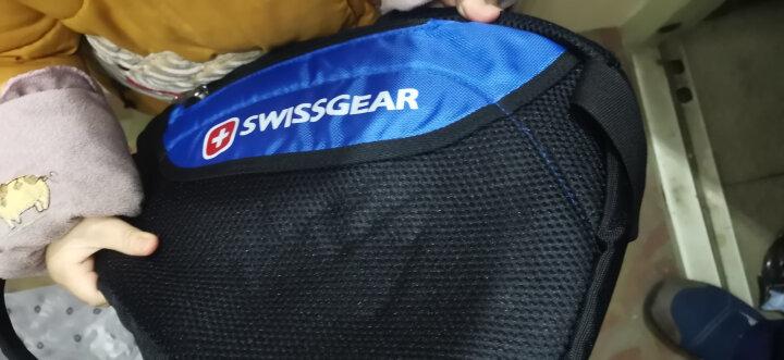 SWISSGEAR胸包男女 防泼水时尚休闲胸包三角斜挎包 户外运动单肩包旅行小包 SA-9966蓝色 晒单图