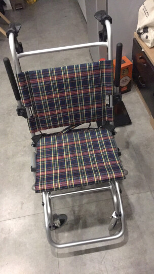 凯洋 7.5KG铝合金飞机轮椅折叠老人儿童轻便小型旅行出游代步车便携式手推轮椅车 经典款座宽46承重75KG可托运 晒单图