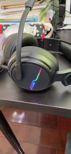 西伯利亚(XIBERIA)X12 头戴式 电脑耳麦 发光 电竞游戏耳机 黑色 晒单图