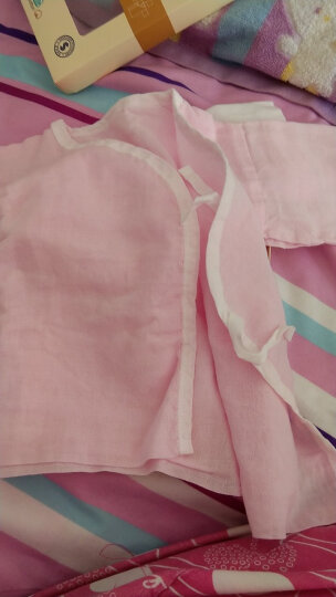 全棉时代 婴儿衣服连体衣和袍新生儿宝宝衣服秋季2件礼盒装长款 蓝色+白色-59/44 晒单图