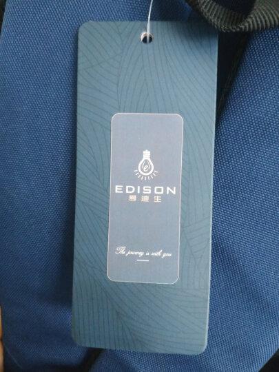 爱迪生(Edison)书包 超轻减负透气中学生背包女休闲运动防水大容量双肩包 L796 紫红色 晒单图