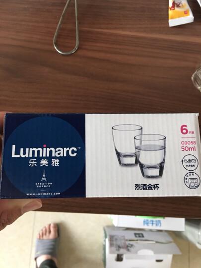 乐美雅(Luminarc)G9057烈酒金杯30ml(6只装)韩国吞杯家用白酒杯无铅玻璃杯小酒杯烧酒杯套装 晒单图