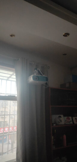 悠视 YS-PR03投影仪支架气压悬停伸缩挂架投影仪吊架投影机墙面壁挂支架万向旋转伸缩通用 白色加长爪*1 晒单图