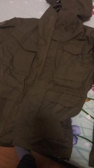 春秋谍影户外m65防水战术风衣男士两件套作训服军迷服饰加厚战术外套战地冲锋衣体能 黑蟒 M(适合140-160) 晒单图