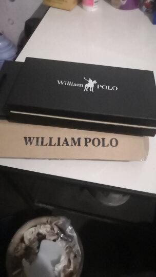 英皇保罗POLO防盗刷卡包男士钱包长款真皮多卡位皮夹头层牛皮拉链卡夹大容量钱夹 纯黑色软皮 晒单图