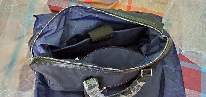 博牌旅行包 出差商务包单肩斜挎 短途男士手提包电脑包 大容量行李袋旅游登机包黑色732-003021 晒单图
