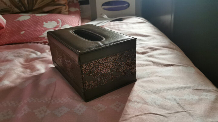 宜优尙品  欧式皮革家居纸巾盒 创意家用客厅桌面餐巾抽纸盒 纸抽盒 复古印花大号 晒单图