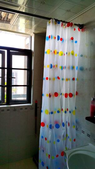 宝优妮浴帘杆浴帘套装免打孔可伸缩不锈钢浴杆衣柜窗帘杆 129cm-203cm 送浴帘 DQ0210 晒单图