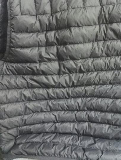 鸭鸭(YAYA)秋冬男外套短款外穿休闲潮羽绒服背心马甲男D-5502 酒红 170/88A 晒单图
