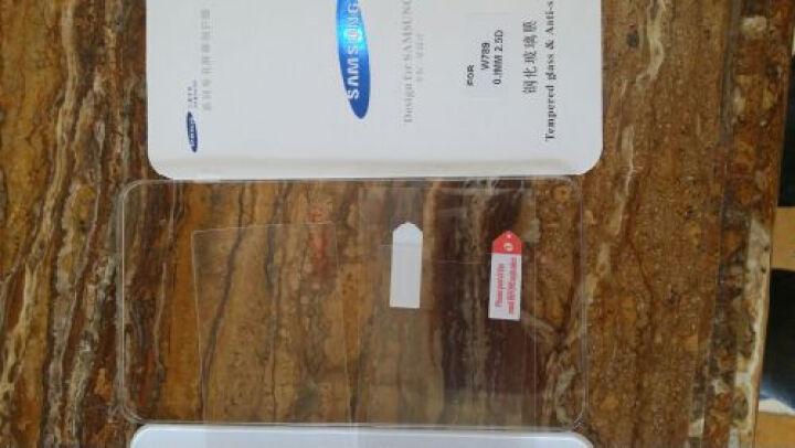 Usmile 钢化玻璃膜手机贴膜后盖钢化膜贴膜内屏手机膜水凝软膜 适用于三星W2018/W2019 W2019全胶黑边高清外屏钢化膜 晒单图