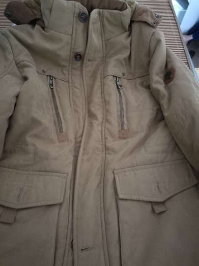 JEEP吉普 棉衣男2018新款男士棉服中长款加绒加厚保暖多袋可卸帽棉袄男 卡其色. L 晒单图