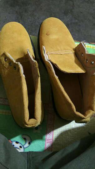 谋福 翻毛牛皮劳保鞋工作鞋户外鞋   橡胶大底 45 晒单图
