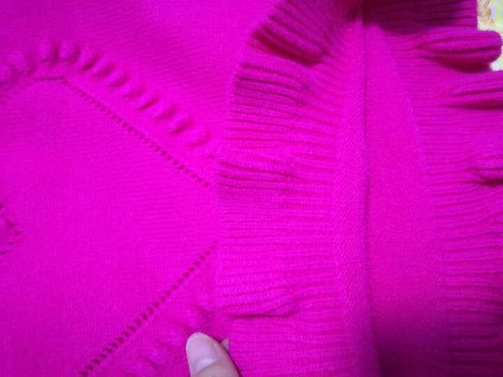 马甲2017新款女童爱心毛线马甲女宝宝针织衫坎肩婴儿毛衣背心 爱心-粉色 80cm(80cm) 晒单图